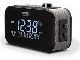 roberts radio ortus1bk dab alarm clock radio
