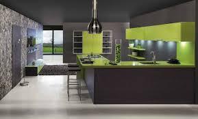 modern kitchen green
