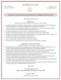 Certified Paralegal Resume Sample Danetteforda