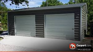 contemporary doors 21x24 custom two car garage with grey roof and white trim in metal doors b