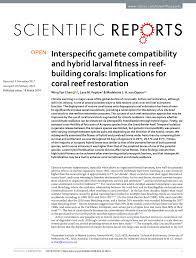 implications for c reef restoration