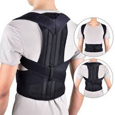 Image is loading Adjustable-Posture-Corrector-Back-Support-Shoulder-Back -Brace- Adjustable Posture Corrector Back Support Shoulder Brace Belt