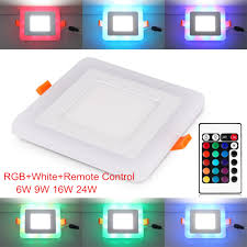 Rgb Led Panel Light Us 4 94 45 Off Seacat New Arrived 6w 9w 16w 24w Square Rgb Led Panel Light With Remote Control Downlight Led Ceiling Down Ac85 265v Driver In
