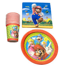 <b>60pcs</b>/<b>lot</b> Baby Shower Super Mario Theme Happy Birthday <b>Party</b> ...