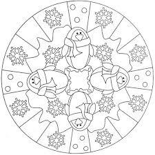 10 Mandala Sullinverno Da Colorare