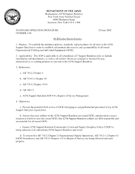 Army Sop Template New 2017 Resume Format And Cv Samples For Dod