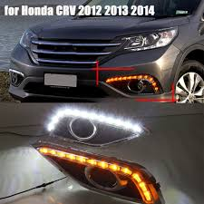 Drl Light Honda Crv 1pair Daytime Running Light White Drl Yellow Turn Signal For Honda Crv Cr V Cr V 2012 2013 2014 City Suv Bumper Light Auto Lamp