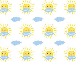 Sun Pattern Delectable Cute Sun Pattern Vector Art Graphics Freevector