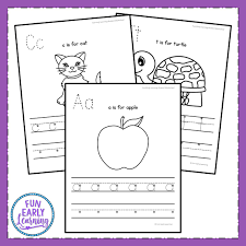 Phonics printable worksheets and activities (word families). Lowercase Letter Worksheets With Guided Lessons For Prek And Kinder