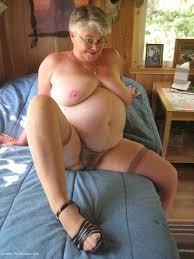 A large grandma posing from UK
