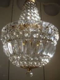 beautiful large vintage french lead crystal empire chandelier no 1
