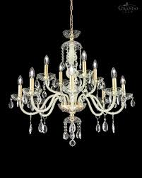 104 ch 8 4 gold leaf ivory crystal chandelier olympia chandeliers