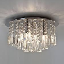 evros flush fitting bathroom chandelier light ip44