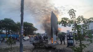 Monolith in Democratic Republic of Congo destroyed with sticks and fire    World News