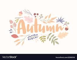 Autumn Word Handwritten With Elegant Cursive Font