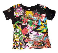 Ed Hardy Flower Design Amazon Com Ed Hardy Girls Black Tee Shirt W Birds Flowers