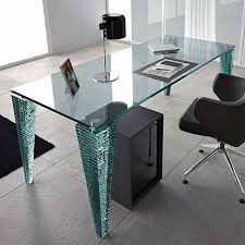 this desk was made with custom cut glass from dulles glass mirror the glass desk top was applied to the legs with construction glue