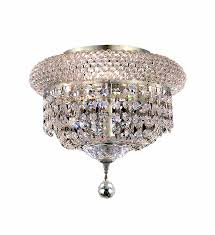 primo collection flush mount d10in h7in lt 3 chrome finish royal cut crystals