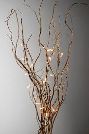Gold Curly Willow LED Branches 20