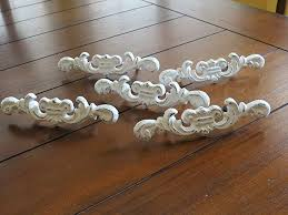 Shabby Chic Drawer Pulls Dresser Knobs Antique White Or Pick Your Color  Cottage White Drawer Pulls A42