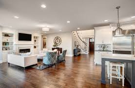 new hardwood floors throughout home s living room
