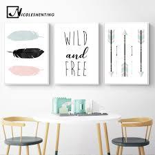 <b>Feather</b> Arrow <b>Cartoon</b> Wall Art Canvas Poster Nordic <b>Nursery</b> Prints ...