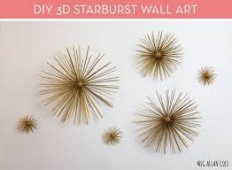 make it diy mid century modern 3d starburst wall art on mid century modern wall art diy with make it diy mid century modern 3d starburst wall art curbly