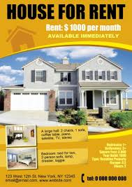 Rent Poster Download Free Real Estate Template Create Your Own Real Estate Flyer