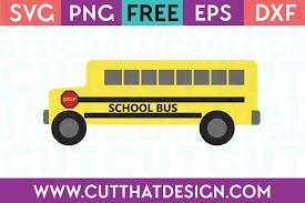 Bus (158 images) 1/8 pages. Free Svg Files School Bus Design Cut That Design