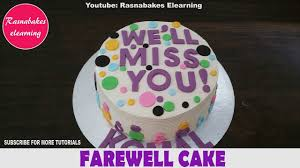 Good Luck Cake Designs Farewell To Office Coworker Colleague Leaving Saying Good Luck Goodbye Going Away Cake Ideas Design