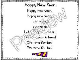 Chart On Happy New Year Interactive Pocket Chart Poem Builder Happy New Year