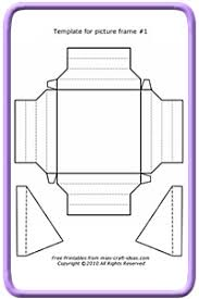 Paper Picture Frame Templates Picture Frame Craft Ideas With Free Template