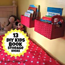 diy storage ideas for kids roomsa diy wall book display with baskets more kids book storage