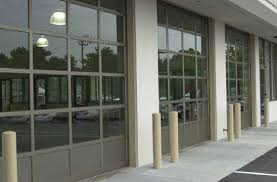 Wonderful Commercial Glass Garage Doors Inside Concept Design