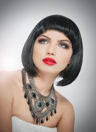 hairstyle and makeup beautiful female art portrait with beautiful eyes french style brunette