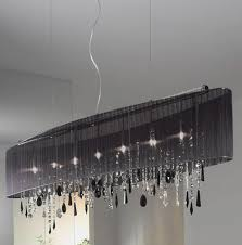 rectangular crystal chandelier black shade chandeliers