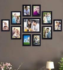 black wood collage photoframes