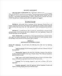 loan and security agreement template. 9 Commercial Security Agreement Templates Sample Templates