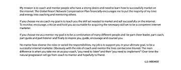 c d brewer  success builder  mission statement my mission statement