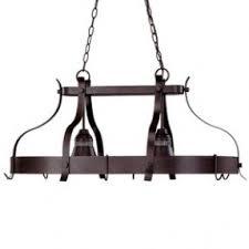 Portfolio 2 Light Antique Bronze Hardwired Hanging Lighted Pot Rack $159.  Weu0027