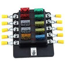 amazon com 10 way blade fuse block for car truck boat rv led fuse box terminal tool at Fuse Box Terminals