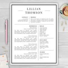 Resume With Photo Template Delectable Professional Resume Template For Word Pages CV Template Resume