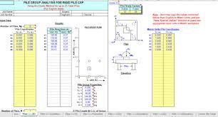 Pile Design Spreadsheet Pile Group Analysis Spreadsheet