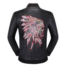 best men s indian head leather jacket