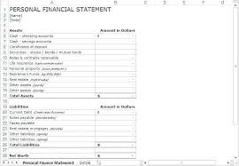 Integrated Financial Statement Template