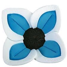 Flowering Pedal Baby Bath Seat - Blue & White | Bath seats, Baby ...