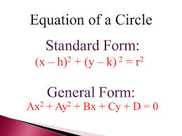6 equation of a circle standard form general