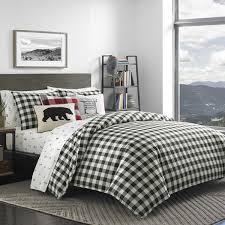 grey plaid comforter. Plain Comforter Eddie Bauer Black White Mountain Plaid Comforter Set In Grey D