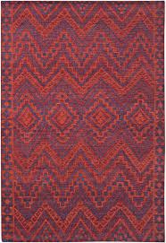 Southwest Pattern Impressive Red Orange Blue Southwest Santa Fe Pattern Wool Area Rug Woodwaves