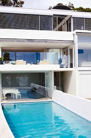 pool house exterior Thrum-home-pittwater
